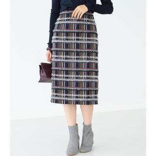 デミルクスビームス(Demi-Luxe BEAMS)のDemi-Luxe BEAMS /ミックスツイード スカート(ひざ丈スカート)