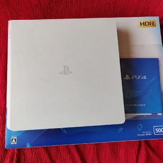 プレイステーション4(PlayStation4)のPS4本体 CHU-2100A グレイシャーホワイト(家庭用ゲーム機本体)