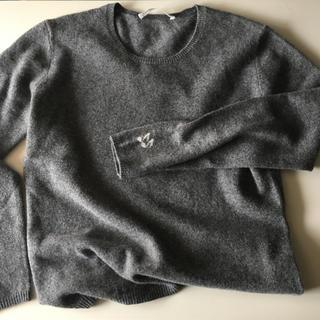 ジンジャーエール(GINGER ALE)のグレー カシミアニット Sサイズ 美品(ニット/セーター)