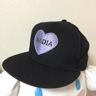ナディア(NADIA)のNADIA ニューエラ コラボ キャップ 黒 美品 ナディア ストリート(キャップ)