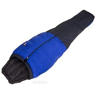ナンガ(NANGA)の新品 NANGA オーロラ500DX ブルー/ブラック (センタージップ)(寝袋/寝具)