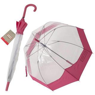 ハンター(HUNTER)のハンター HUNTER バブル アンブレラ ビニール傘 長傘★数量限定ピンク(傘)