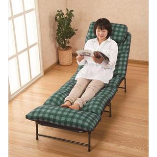 展示品 マリン商事 6段階リクライニングカウチベッド コンパクト お昼寝 収納(簡易ベッド/折りたたみベッド)