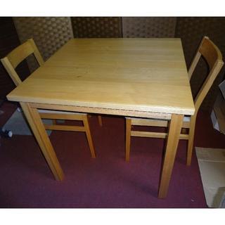 MUJI (無印良品) - 無印良品 ダイニングテーブル3点セット