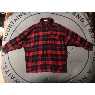 スライラング(SLY LANG)のSLY LANG チェックドルマンBIGシャツ(シャツ/ブラウス(長袖/七分))