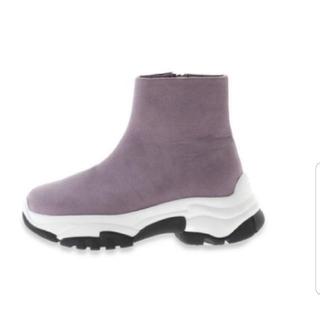 スナイデル(snidel)の新品SNIDELスナイデル ジップスニーカーソールブーツ(ブーツ)