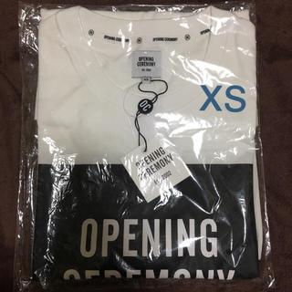 オープニングセレモニー ロゴ Tシャツ サイズXS ホワイト 新品