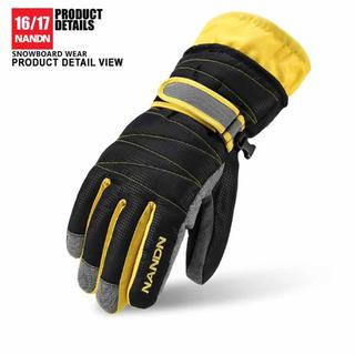 NANDN スノーボード グローブ 手袋 スキー 手袋 防寒 新品 送料無料(ウエア/装備)