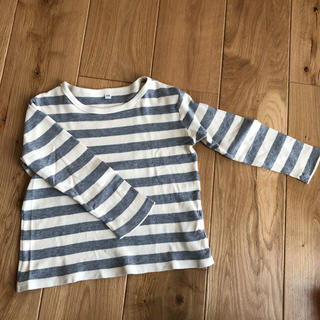 ムジルシリョウヒン(MUJI (無印良品))の無印良品 ボーダーロンT 110センチ(Tシャツ/カットソー)