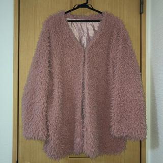 シマムラ(しまむら)のしまむら ピンク プードル コート 4L(毛皮/ファーコート)