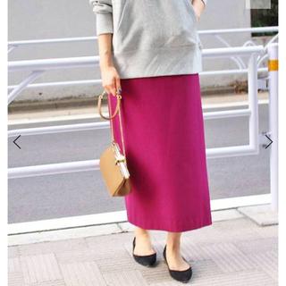 イエナ(IENA)のIENA 人気完売色 新品 ジョーゼットロングタイトスカート38ピンク(ロングスカート)