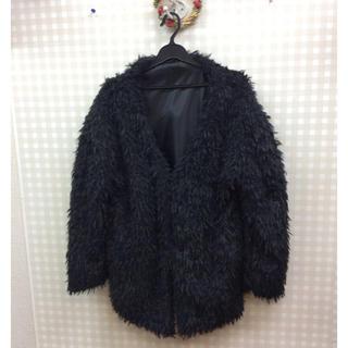 デュレル(Durer)の【新品】DURERノーカラーファーコートジャケット(毛皮/ファーコート)