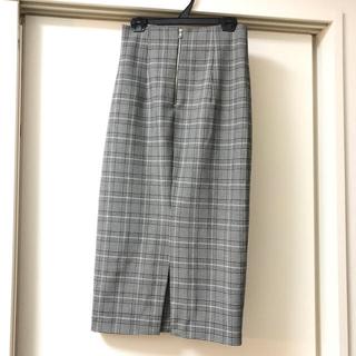 ザラ(ZARA)のZARA*チェックタイトスカート(ロングスカート)