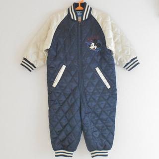 ディズニー(Disney)の⑦ ディズニー スカジャン風 80センチジャンプスーツ カバーオール(ジャケット/コート)
