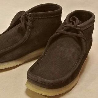 クラークス(Clarks)のClarks クラークスワラビー N濃茶スエード US8.5=26.5cm正規(ブーツ)