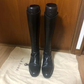 サルトル(SARTORE)のSARTORE ロングブーツ 黒(ブーツ)