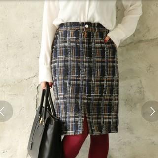 アンティックラグ(antic rag)のアンティックラグ ツイードスカート(ひざ丈スカート)