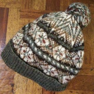 ジャーナルスタンダード(JOURNAL STANDARD)のジャミーソンズ Jamieson's フェアアイル柄 ボンボン付き ニット帽(ニット帽/ビーニー)
