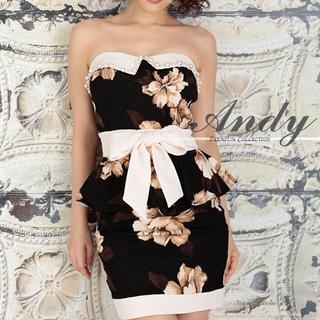 アンディ(Andy)のandy ペプラム 2ピース セットアップ ドレス キャバ 美品 M(ナイトドレス)