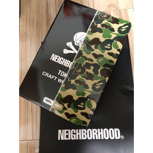 NEIGHBORHOOD(ネイバーフッド)のBAPE × NEIGHBORHOOD BE@RBRIC 100% 400% エンタメ/ホビーのフィギュア(その他)の商品写真