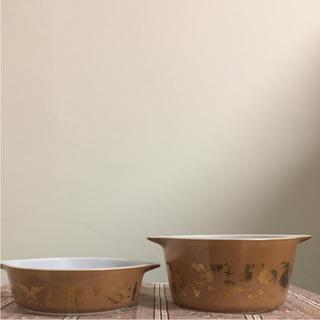 パイレックス(Pyrex)のオールドパイレックス キャセロール2つセット(食器)