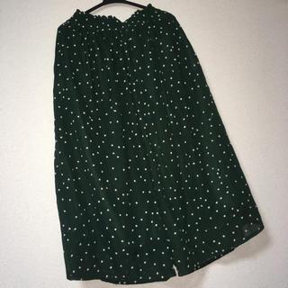 グリーン(green)の星柄パンツスカート(キュロット)
