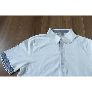 クルチアーニ(Cruciani)のcruciani クルチアーニ ボタンダウン ポロシャツ ホワイト 46  (ポロシャツ)