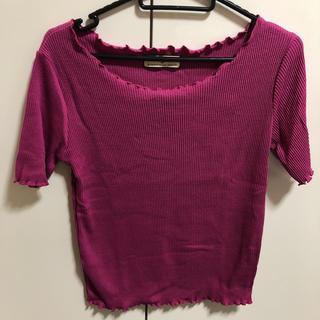しまむら - 紫ピンク系カットソー