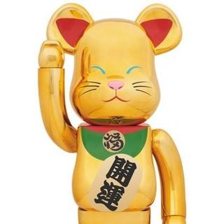 【送料込】金メッキ 弍 2 二 1000% ベアブリック ソラマチ招き猫 新品