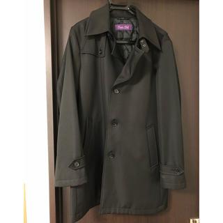 メンズ ブラック ステンカラーコート Lサイズ(ステンカラーコート)