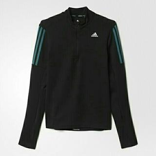 アディダス(adidas)の新品 レディースM ハーフジップ長袖Tシャツ(Tシャツ(長袖/七分))
