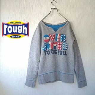 ラフ(rough)のrough フロント&バックプリント トレーナー(トレーナー/スウェット)