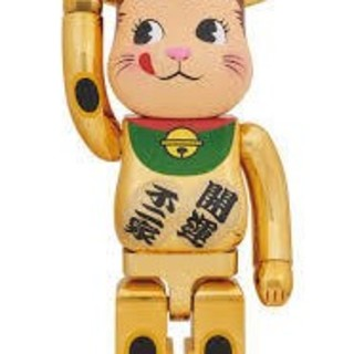 BE@RBRICK 招き猫 ペコちゃん 金メッキ 1000% 新品未開封品