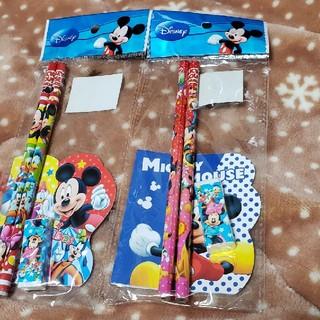 ディズニー(Disney)のディズニー鉛筆4本消しゴム1個メモ帳2冊(鉛筆)