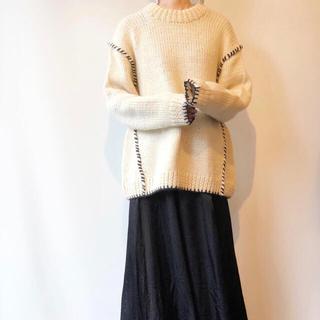 フィーニー(PHEENY)のHAKUJI hand knit sweater ivory ニット(ニット/セーター)