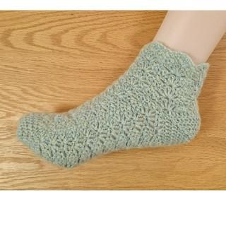 カシミア100% 手編みの靴下 その1(レッグウェア)