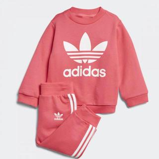 アディダス(adidas)の新品 アディダス スウェット 上下 セットアップ キッズ 80 ピンク(その他)