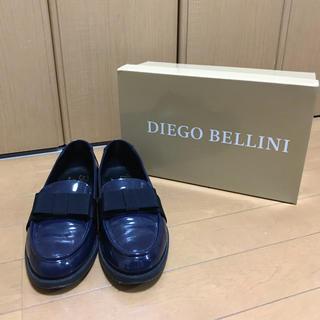 ディエゴベリーニ(DIEGO BELLINI)のB shop で購入 DIEGO BELINI エナメル リボンローファー 37(ローファー/革靴)