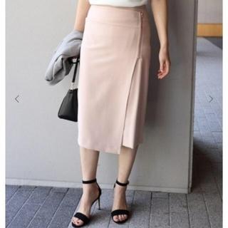 ノーブル(Noble)のダブルクロスラップスカート(未使用、美品)(ひざ丈スカート)