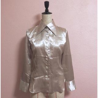 デプト(DEPT)のsilver gold satijn shirt(シャツ/ブラウス(長袖/七分))
