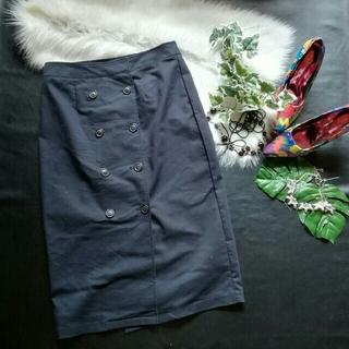 エマジェイム(EMMAJAMES)の♪EMMAJAES♪ボタンつきストレッチロングスカート♪vis♡index♡ロペ(ロングスカート)