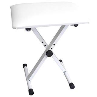 キーボード3段階高さ調整式 椅子 白(ピアノ)