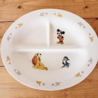 ディズニー(Disney)のオールドディズニー① お子様ランチプレート ミッキーマウス 昭和レトロポップ (プレート/茶碗)
