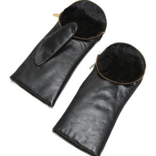 ジャーナルスタンダード(JOURNAL STANDARD)のARISTIDEアリスティッドファーライナーミトン今期完売ジッパートップ手袋(手袋)