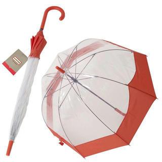 ハンター(HUNTER)のハンター HUNTER バブル アンブレラ ビニール傘 長傘★数量限定SALE(傘)