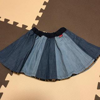 ブリーズ(BREEZE)の【新品】BREEZE リバーシブル デニム レオパード柄 スカート(スカート)