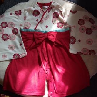 ベルメゾン(ベルメゾン)の袴 着物 ロンパース 子供服 80(和服/着物)