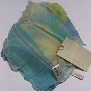 エルプラネット(ELLE PLANETE)の値下げ👎ELLE  PLANETE ☆シルク100%スカーフ70×70(バンダナ/スカーフ)