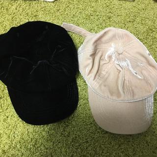 カシータ(casiTA)のcasita ベロア 帽子 2点セット(キャップ)