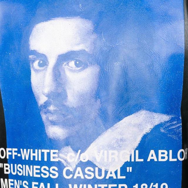 OFF-WHITE(オフホワイト)の【限定SALE】希少デザイン【off-white】ライダースジャケット46 メンズのジャケット/アウター(ライダースジャケット)の商品写真